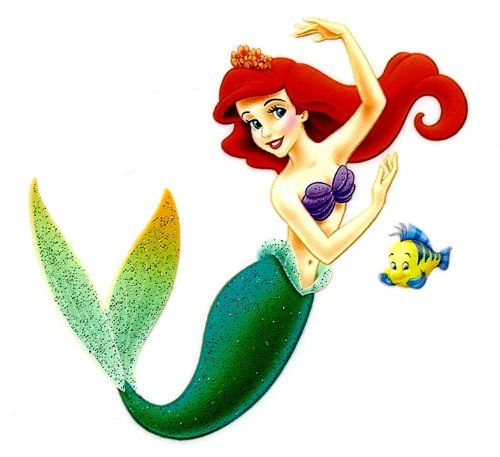 Ariel princess w flounder fish in little for Little mermaid fish