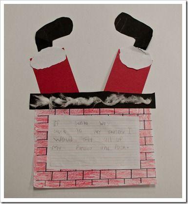Père Noel est coincé dans la cheminée! Super activité d'écriture!