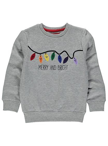 Cute Christmas Jumpers - Light-up Christmas Fairy Lights Jumper | Kids | George at ASDA