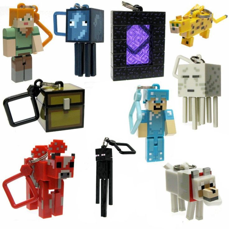 10 pcs minecraft keychain toys 2015 New minecraft creeper/zombie/steve/sword anime figuras online game minecraft toys for adults