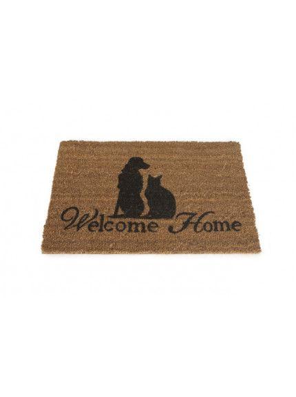 "Dørmatte ""Welcome Home"" Designed by Lotte"