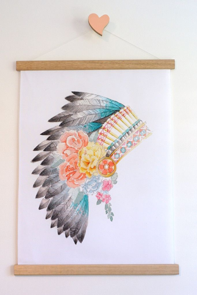 Cuboochi Indian Headdress Canvas - G
