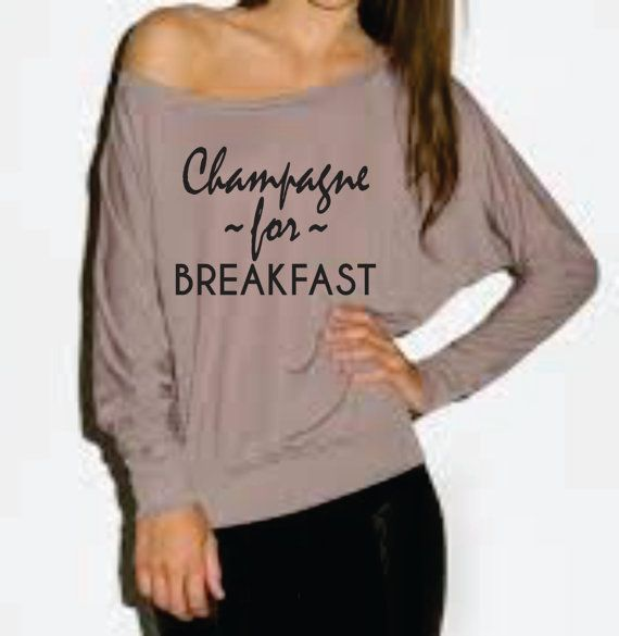 Champagne for Breakfast .Off  the shoulder. by Lollipopclothing