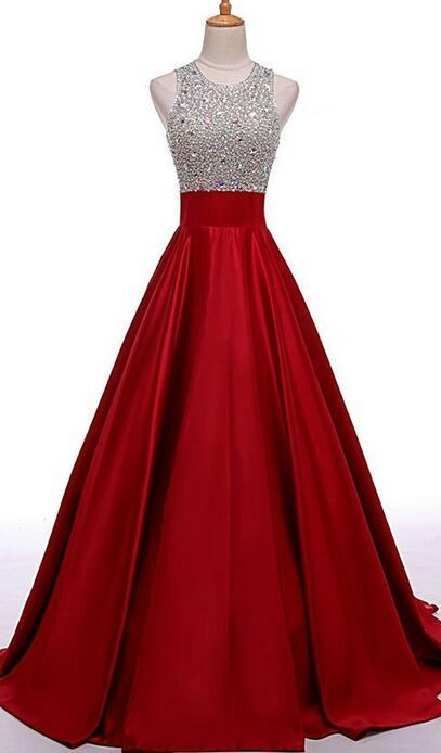 High Low Beaded Red Prom Dresses 910a9e584d22