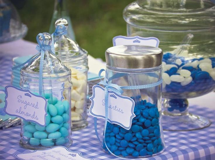 Blue graduation party theme
