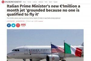 Aereo di Renzi, peracottari al Governo. Che figura… (e The Independent legna l'Italia)
