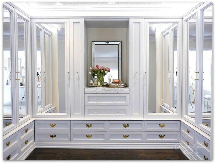 our diy custom dressing room is almost done mirror closet doorsmirror
