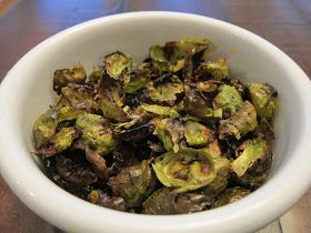 ~From top- Brussels sprout leaves,  My Brussels Sprout Chips (Re)creation,  Close-up of (Re)creation~   Park Tavern and its sister R...