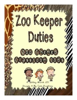 NEW! Zoo Keeper Duties - A Zoo Themed Classroom Job Chart Set - Is now in print as well as cursive! Only $4.00 online at my TPT store! Perfect for any Zoo/Jungle/Animal Print Themed Classroom!  http://www.teacherspayteachers.com/Product/NEW-Zoo-Keeper-Duties-Zoo-Themed-Classroom-Job-Chart-NOW-IN-PRINT-741989
