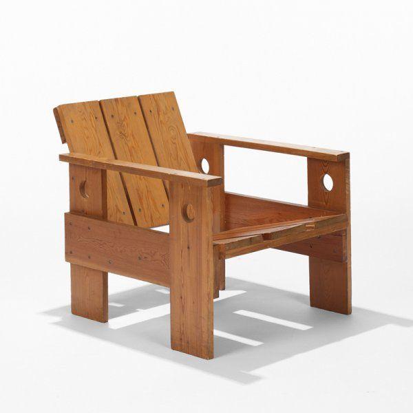 rietveld chair plans 255 gerrit thomas rietveld crate chair lot 255