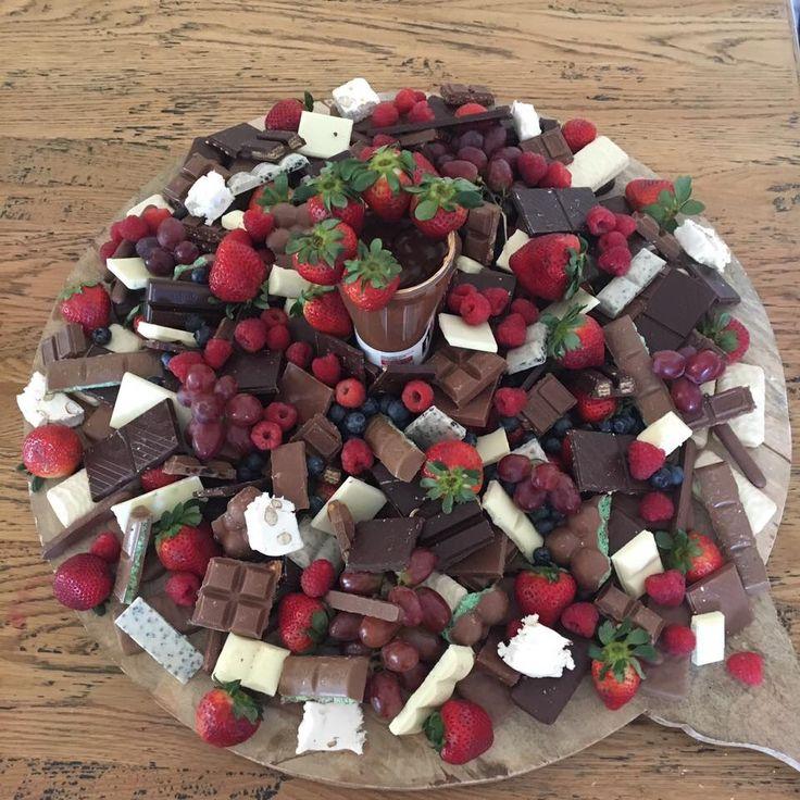 Chocolate dessert grazing platter