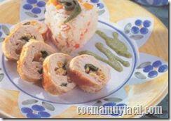 Pechugas de Pollo Rellenas con Elote y Chile Poblano. Comida Mexicana   Cocina Muy Facil