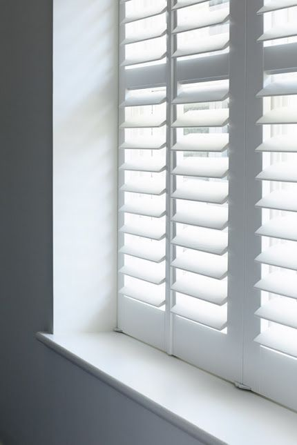white plantation blinds plantation shutters...for the bedroom