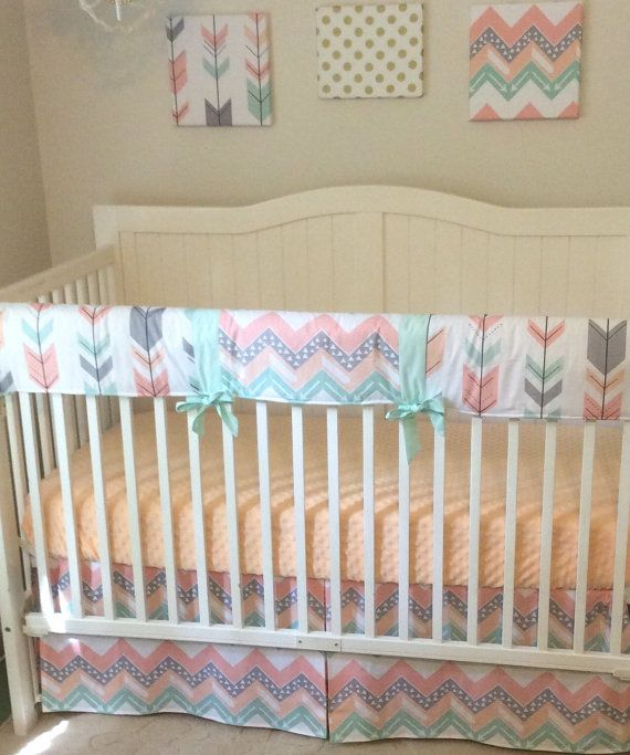 20 best Coral mint peach and gray nursery images on ...