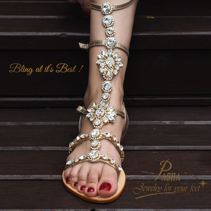 884d6b91d6f4 The icon for the season is our ORONSAY gladiator in gold with our precious  rhinestones in
