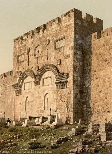 [The Golden Gate (exterior), Jerusalem, Holy Land] The Eastern Gate that Yeshua will walk through on His return!! see Ezekiel Chapter 44 ~
