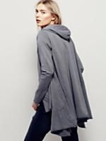 Dreamtime Cardi | So soft, effortless hooded cardigan featuring an oversized, drapey silhouette. Raw hems make for a lived in, beachy look. Hip pockets. American made.