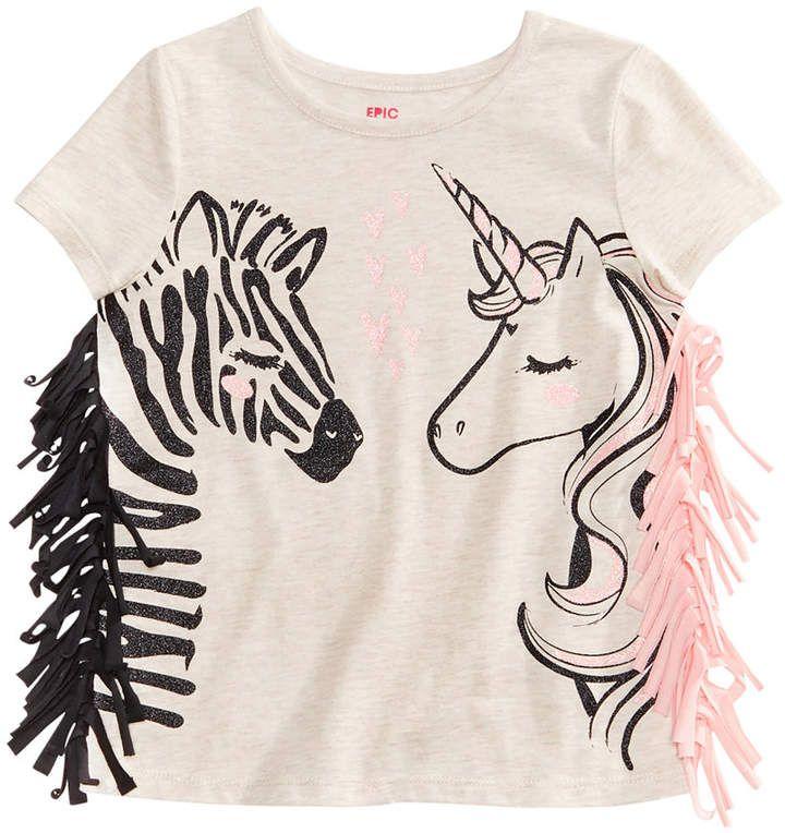 aeb792fea173f Epic Threads Zebra & Girls Cute Clothes Unicorn Graphic-Print T ...
