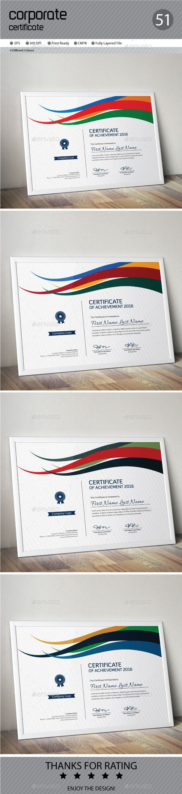 13 best certificate images on pinterest certificate templates certificate template psd design download httpgraphicriveritem yadclub Gallery