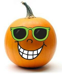Halloween Decorated Pumpkin: painted