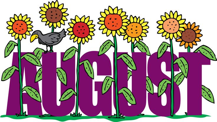 August Floral Clipart For Screen Saver