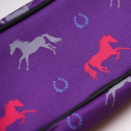 Pencil Case - Purple with Horse Print – Pony Express Girls