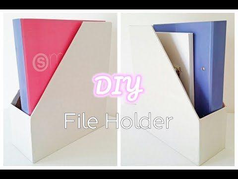 DIY File Holder | Πως να φτιάξεις κουτί αρχειοθέτησης  - La creme