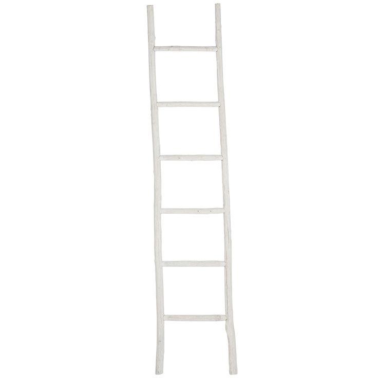 Geef extra sfeer aan je huis met dit decoratieve rek van hout. Niet geschikt als ladder. Hoogte: 180 cm. Kleur: wit. #kwantum_woonahaves_rek #kwantum #kwantum_nederland #woonahaves #daarwoonjebetervan