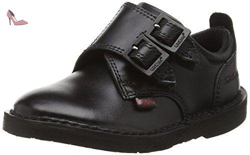 Kickers  Adlar Monk Dstrap Infant, Mocassins garçon - Noir - Noir,  24 EU ( 7 UK ) - Chaussures kickers (*Partner-Link)