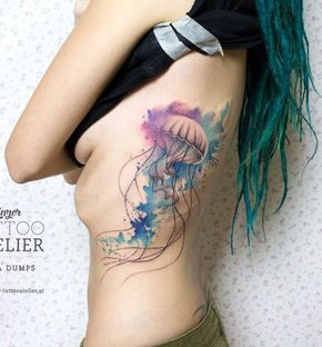 Jellyfish tattoo-44 - 50 Jellyfish Tattoo Ideas