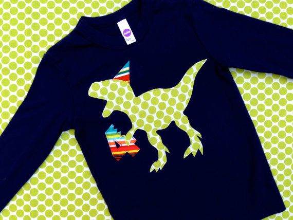 Dinosaur Birthday Shirt T-Rex Birthday Shirt by wigglesandgiggles1