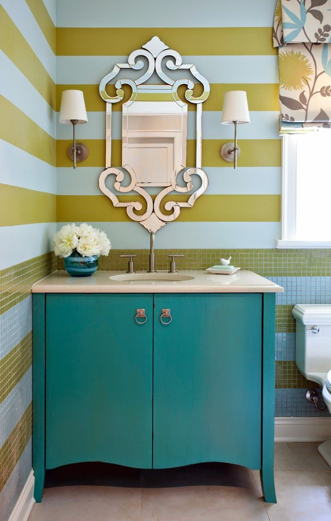 Best 25 Striped Bathroom Walls Ideas On Pinterest Gold
