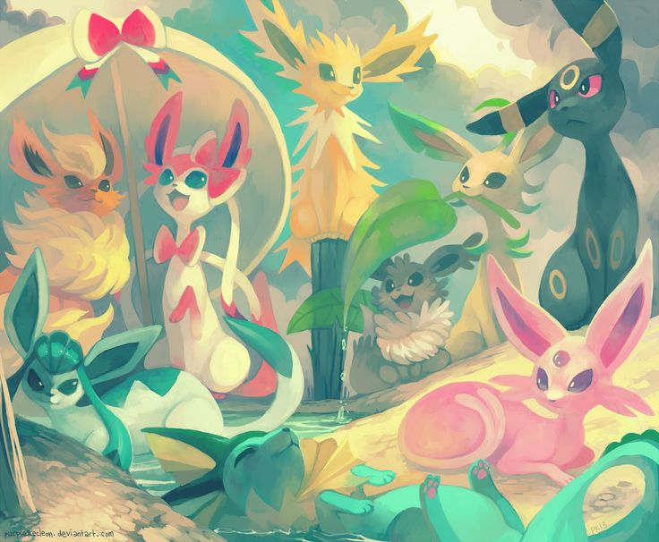 Every Eeveelution by *purplekecleon on deviantART