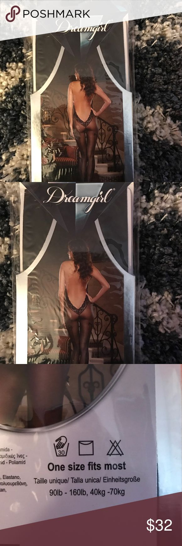 🎉Sexy🎉 Sheer halter body stocking with low V back. Must have bedroom attire😍😍 Intimates & Sleepwear