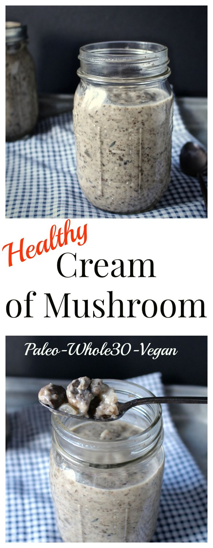 Healthy Cream of Mushroom - Tried and approved l!