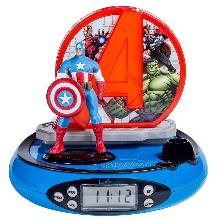 MARVEL AVENGERS PROJECTOR RADIO ALARM CLOCK KIDS NEW OFFICIAL #Marvel #Childrens