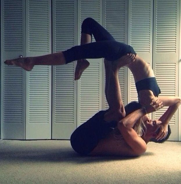 Acro yoga <3 I want so badly to be able to do this with someone one day