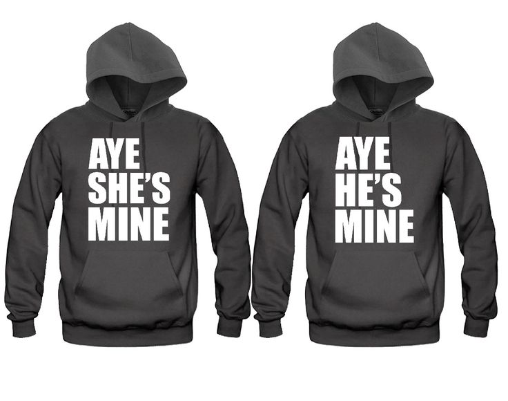 Aye He's Mine - Aye She's Mine Unisex Couple Matching Hoodies