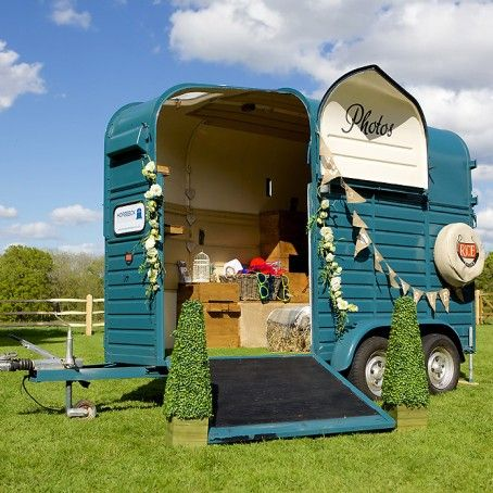 Rustic Wedding Photo Booth - Horse Box Photo Booth