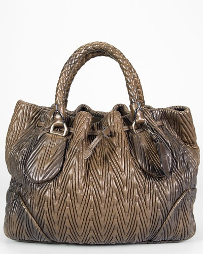 1000+ images about Prada Ombre Chevron Nappa Antique Bauletto Bag ...