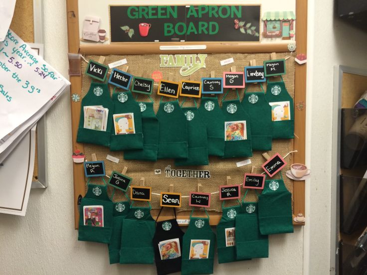 Green apron board I made for my Sonoma Starbucks :)