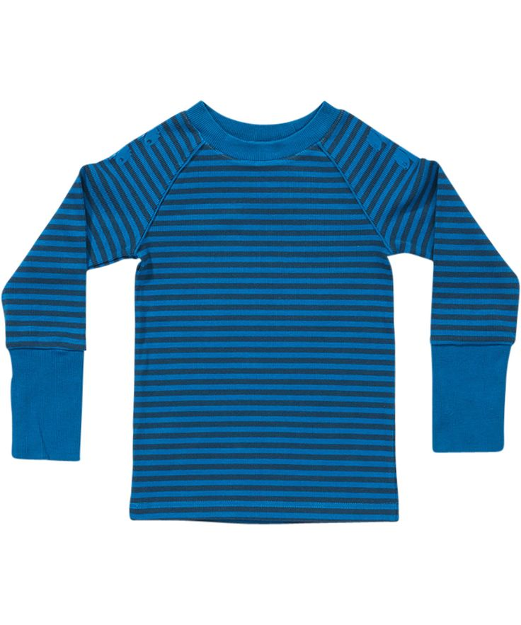 Albababy basis blauw gestreepte t-shirt in rib katoen. albababy.nl.emilea.be