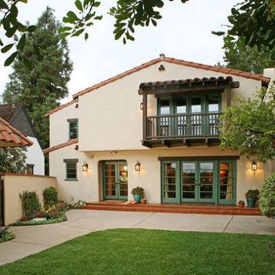 61 best images about hacienda exterior on pinterest for Spanish revival exterior paint colors