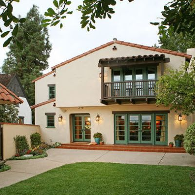 1000 images about balcony over garage on pinterest for Spanish revival exterior paint colors