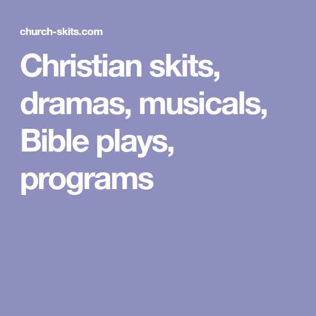 Christmas Dramas For Church Youth Groups