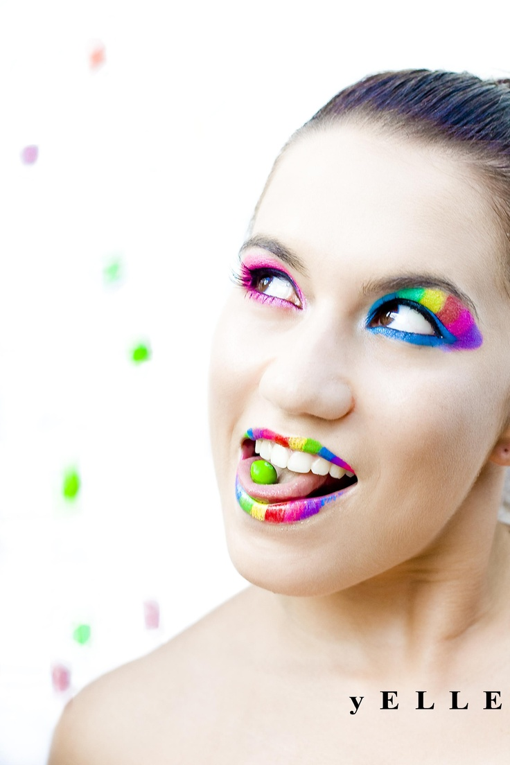 The Day it Rained Skittles. Body art makeup. yELLE Styling