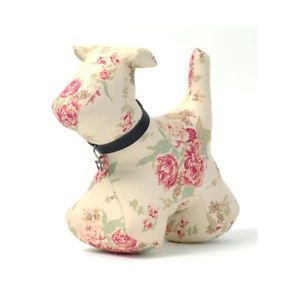 Rose pattern dog doorstop