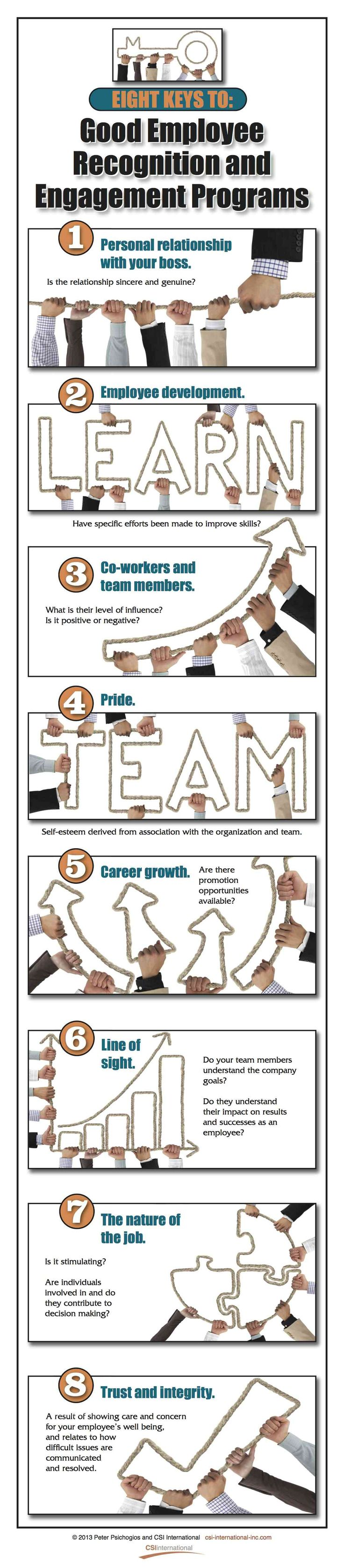 8 Keys To Good Employee Recognition and Engagement Programs
