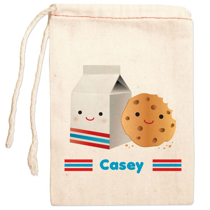 Milk & Cookies party favor bag. So cute!