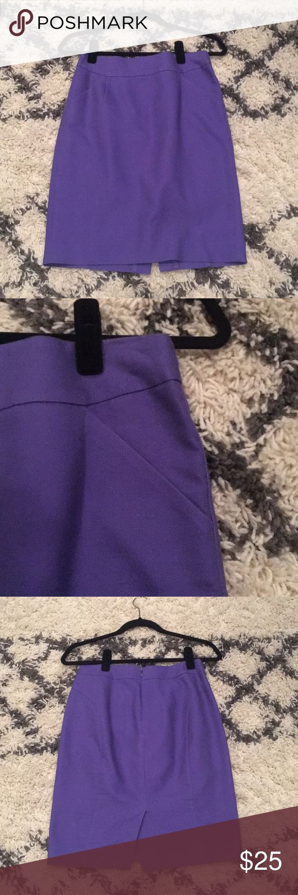 J. Crew Purple Pencil Skirt Gorgeous purple pencil skirt with pockets! Very flattering on. Excellent condition. J. Crew Skirts Pencil